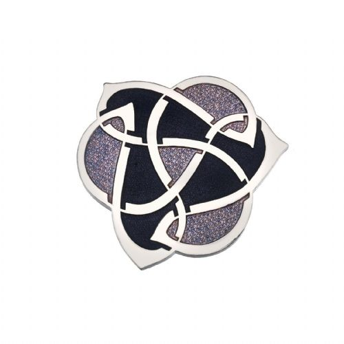 Celtic Archibold Knox Brooch Silver Plated Purple Brand New Gift Packaging
